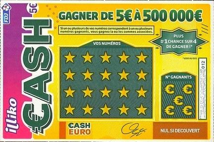 Un des jeux les plus populaires jeu à gratter CASH