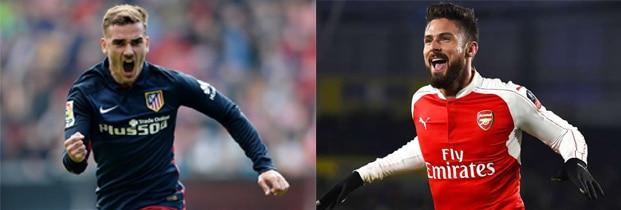Griezmann-et-Giroud-attaquants-de-l'équipe-de-france-de-football