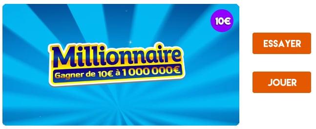 Jouer au jeu de grattage Millionnaire de la FDJ