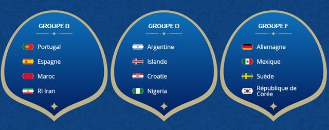Y-a-t-il un groupe de la mort lors de cette coupe du monde 2018