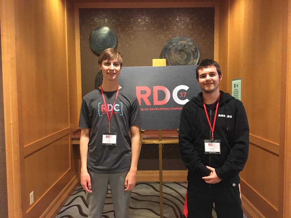 Alex Balfanz et Andrew Bereza, joueurs sur ROBLOX