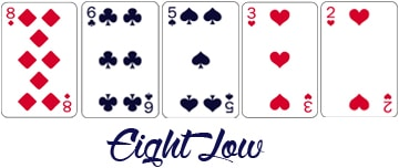 Combinaison Lowball et Ace to Five : Eight Low